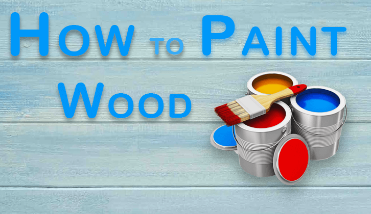 paint and brush for painting wood