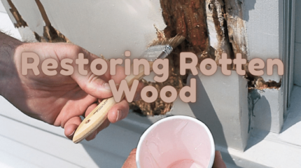 how to restore rotting wood