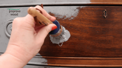 correct way of applying paint over stained wood.